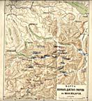 Карта военных действий Суворова в Швейцарии